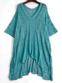 فستان التغطية شاطئ مفتوحة كروشيه - البحيرة الزرقاء