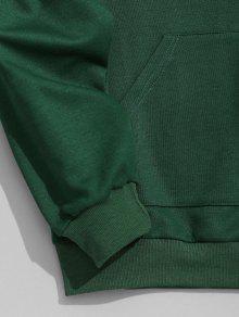 Sudadera De Con Contraste S Capucha Con Para Hombre Verde Capucha r4rYFBqw