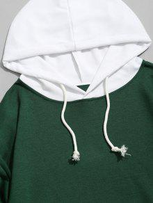 Hombre Contraste Sudadera Capucha De S Verde Con Capucha Con Para qRFn1Ot0