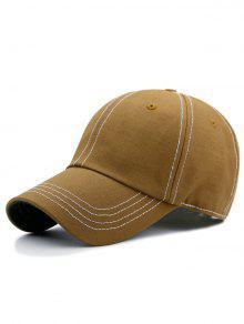 قبعة مطرزة بخطوط - ترابي