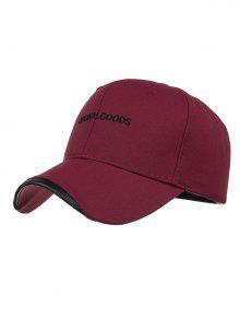 السلع الأصلية التطريز قبعة بيسبول - عنابي اللون