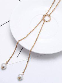 2018 circle simple pendant necklace in gold and white zaful circle simple pendant necklace aloadofball Images