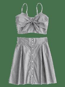 M Stripes Y Top Up Skirt Bralette Raya Set Button R8S4qdvw