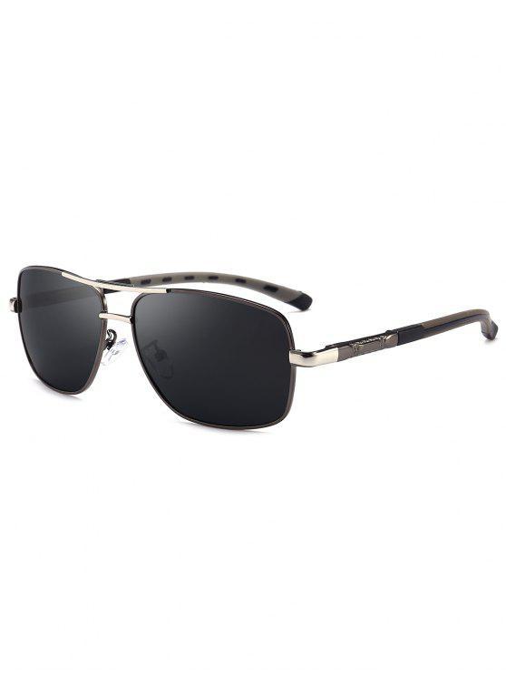 نظارات شمسية بشكل مربع - بندقية رمادي الإطار + رمادي عدسة