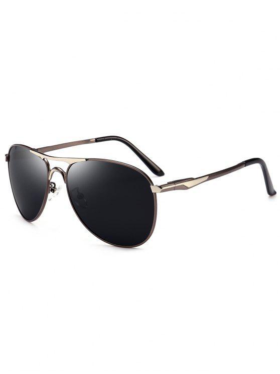 نظارات شمسية ذو إطار معدني - بندقية رمادي الإطار + رمادي عدسة