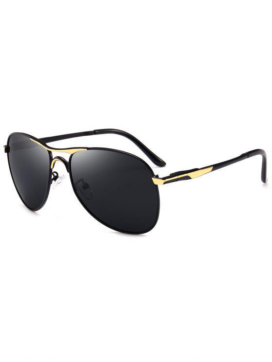 نظارات شمسية ذو إطار معدني - ذهبي