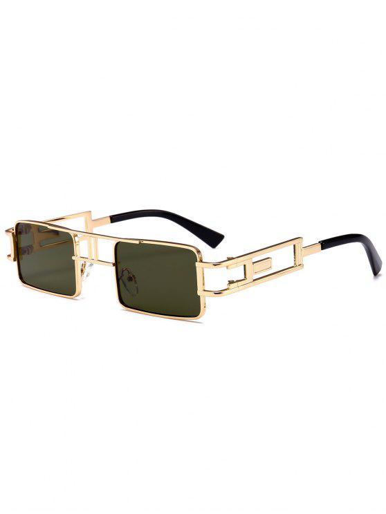 Hollow Out Carver Frame Óculos de sol quadrados - Verde Escuro