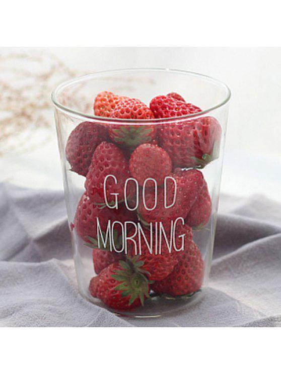 Creative 400ML Good Morning Coupe en verre résistant à la chaleur - Blanc 400ML