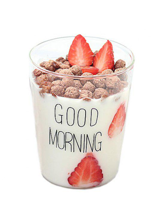 outfit Creative 400ML Good Morning Heat Resistant Glass Cup - BLACK 400ML