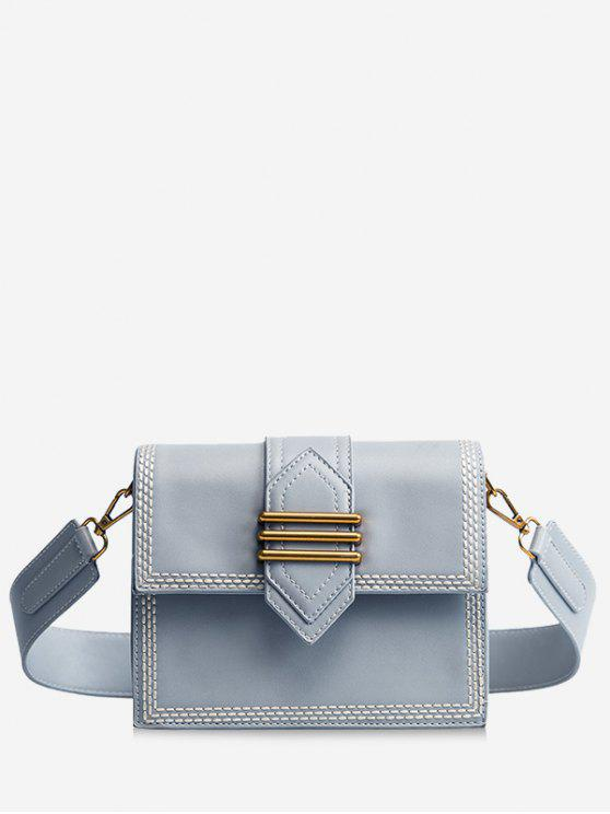 fancy Minimalist Casual Shopping Crossbody Bag - AZURE