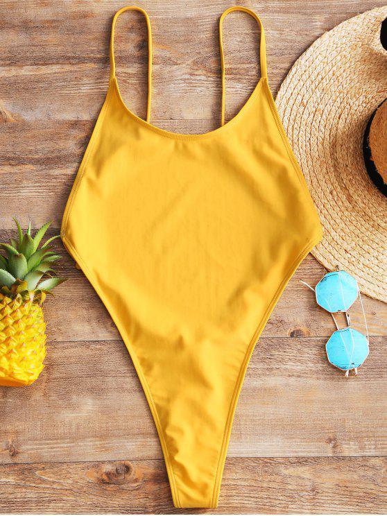 Cami Backless High Cut Swimwear - Mostarda S