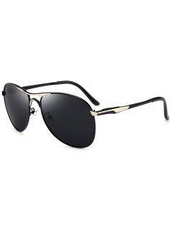Full Frame Metal Pilot Sunglasses - Black