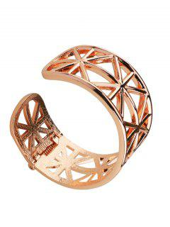 Alloy Simple Geometric Cuff Bracelet - Golden