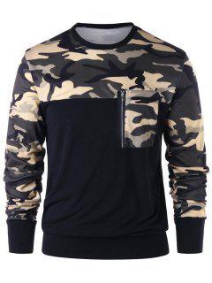 Camouflage Zip Pocket Sweatshirt - Camouflage L