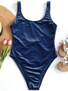 Velvet High Cut Swimsuit - Deep Blue S