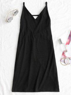 Open Back Mini Club Dress - Black M