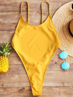 Cami Backless High Cut Swimwear - Mustard L