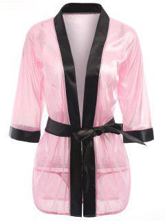 Vestido Para Dormir Sin Cuello - Rosa Luz