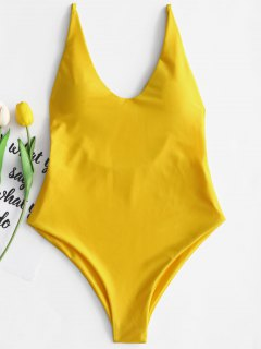Padded One Piece Swimsuit - Yellow S