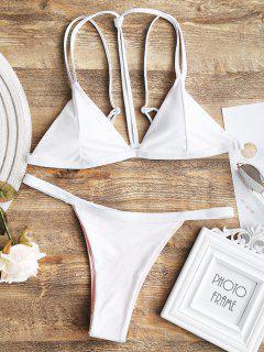Cami Caged Thong Badeanzug - Weiß S