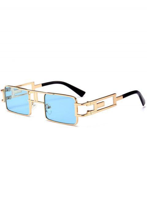 sale Hollow Out Carver Frame Square Sunglasses - BLUE  Mobile