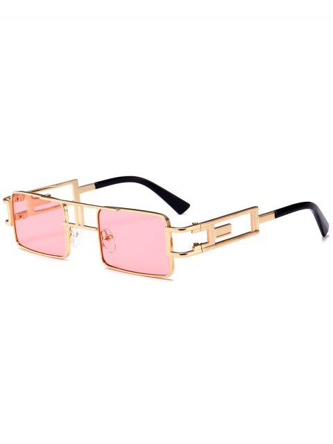 women's Hollow Out Carver Frame Square Sunglasses - LIGHT PINK  Mobile