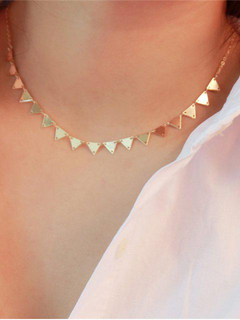 latest Metal Triangle Collarbone Charm Necklace - GOLDEN  Mobile