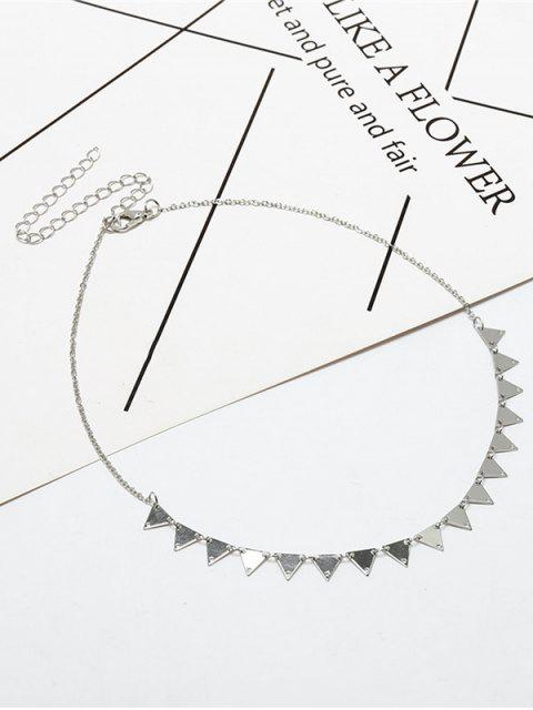 trendy Metal Triangle Collarbone Charm Necklace - SILVER  Mobile