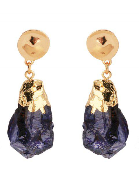 unique Natural Stone Clip On Earrings - GOLDEN  Mobile