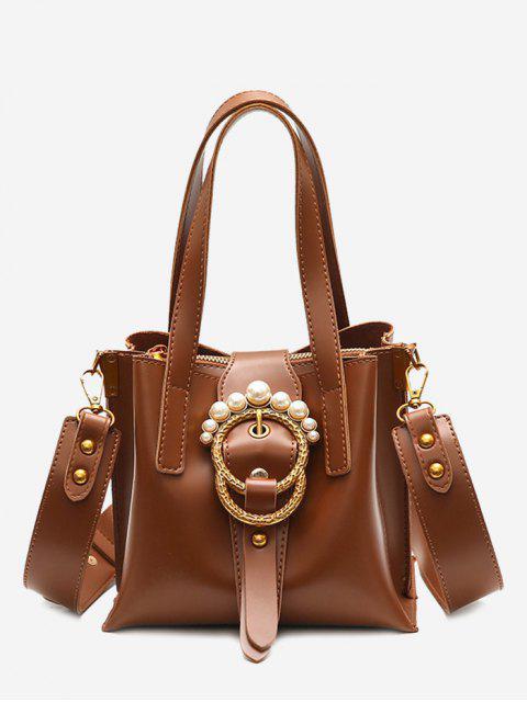 shops Faux Pearl Handbag with Shoulder Strap -   Mobile