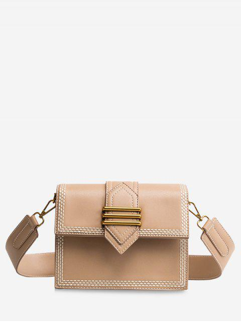 Minimalista de compras casuales Crossbody Bag - Caqui  Mobile