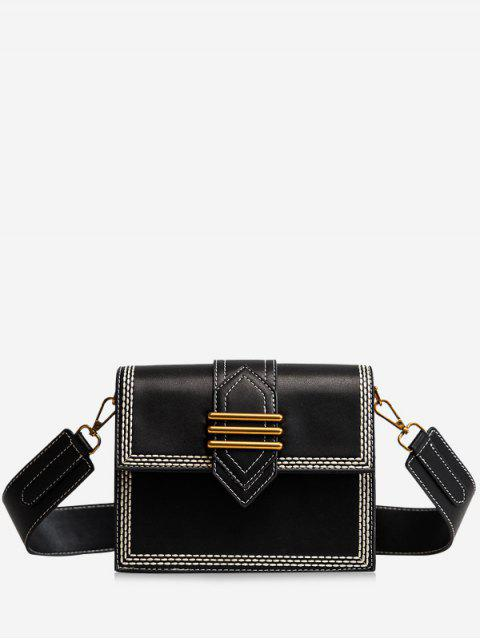 Minimalista de compras casuales Crossbody Bag - Negro  Mobile