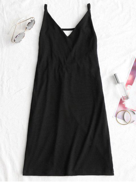 Robe de Bal Courte à Dos Ouvert - Noir S Mobile