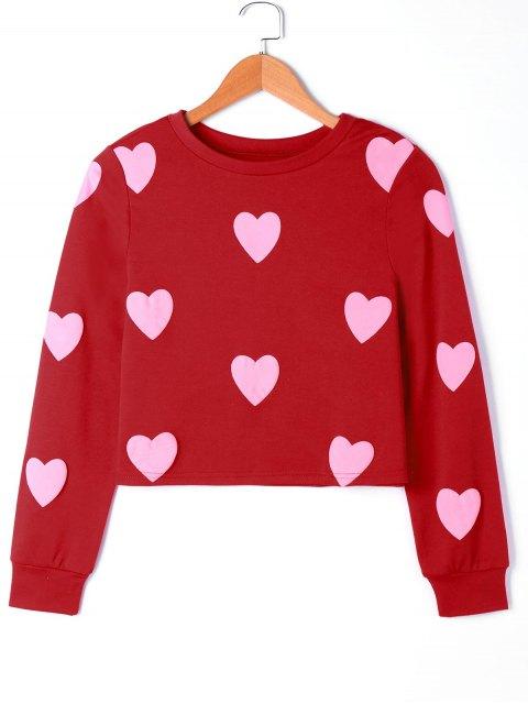 Herz Grafik Sweatshirt - Pink XL  Mobile