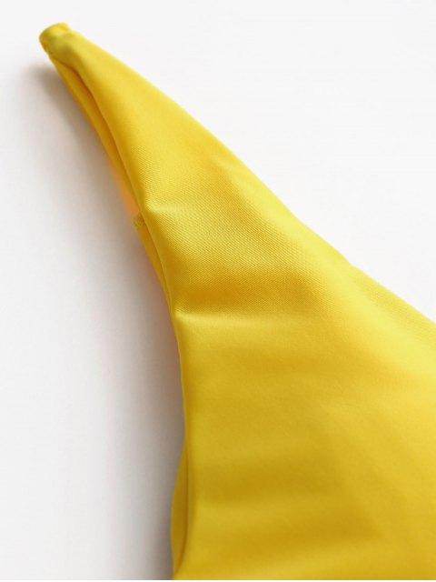 Bañador de una pieza acolchado - Amarillo L Mobile