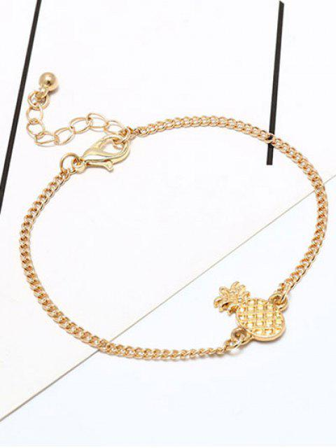 new Fruit Pineapple Cute Chain Bracelet - GOLDEN  Mobile