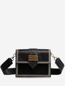 حقيبة يد كروسبودي خياطة - أسود