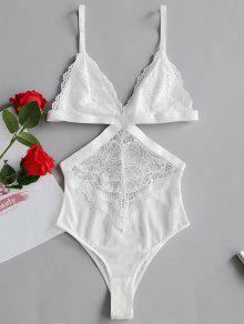 تيدي لانجري شفاف لعيد الحب - أبيض L