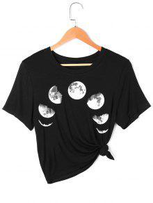 تغيير القمر تي شيرت - أسود M