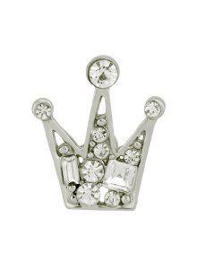مختلف فو الماس ترصيع تاج شكل بروش دبوس - فضة