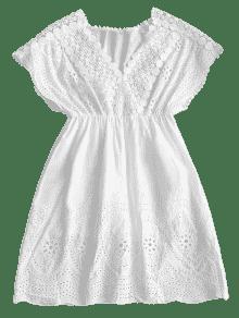 Alta Croch 233; De Vestido Cintura De Blanco Mini zq7w67