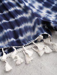 Shorts Top Y Borlas Profundo Off S Shoulder Con Azul The Tie Dye SxC4qwIA