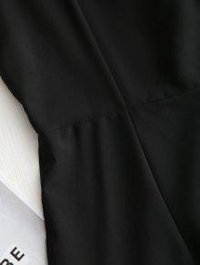 Espalda Vestido S Volantes En Y Volados Con Mini Negro La gxPqOCUw