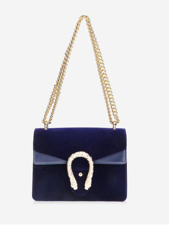 35% OFF  2019 Flap Metal Chain Crossbody Bag In BLUE  d7deb2f8709e3