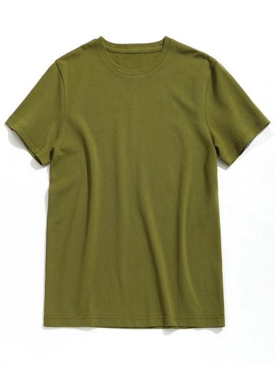 Maglietta Semplice Con Maniche Corte - verde  2XL