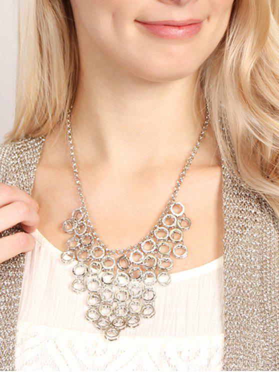 Kleine Hoops Anhänger Pullover Halskette - Silber