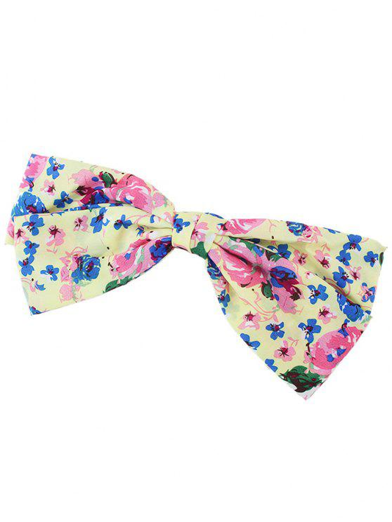 trendy Floral Bowknot Small Hair Clip - PINK