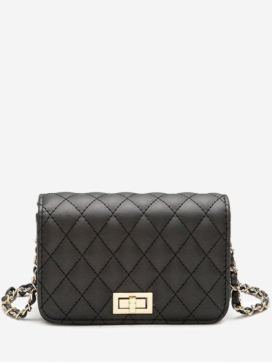 new Quilted Chain Crossbody Bag - BLACK