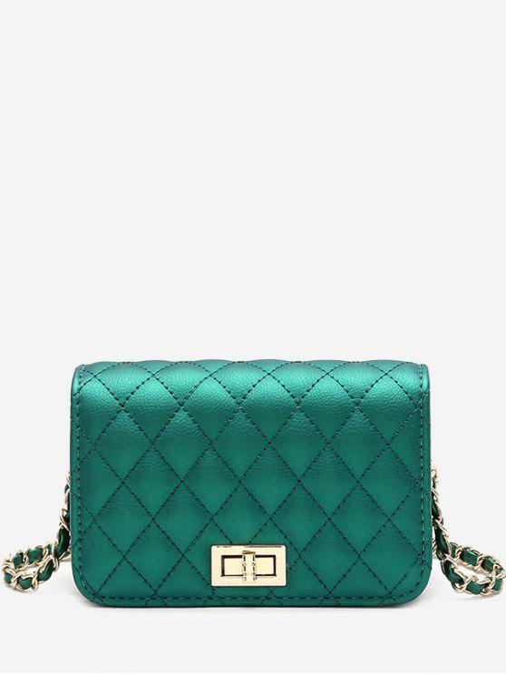 shop Quilted Chain Crossbody Bag - GREEN
