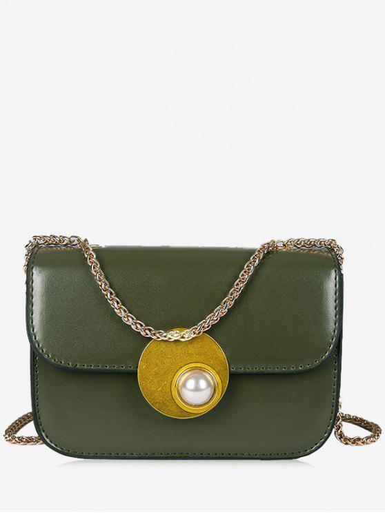 حقيبة كروسبودي مزينة باللؤلؤ المزيف - أخضر